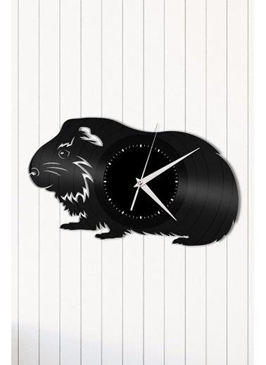 Angemiel Home Guinea Pig Pleksi Duvar Saati Siyah